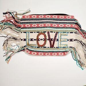 Ale By Alessandra Textile LOVE Clutch Handbag NEW